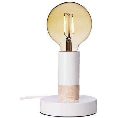 Spartan Wood bordlampe - Hvit/naturlig tre