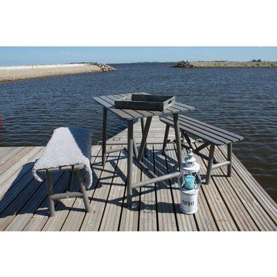 Åland bord med 2 benker - Grå