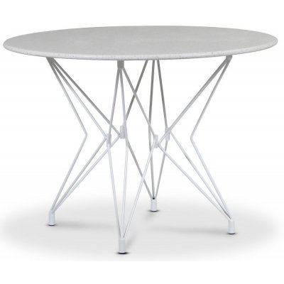 Zoo spisebord Ø105 cm - Hvit / Terrazzo Bianco