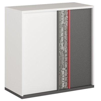 Jacklyn sidebord - Hvit/graphite