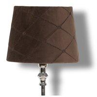 Velvet Diamond lampeskjerm 23 cm - Brun