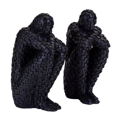 Twins pixel statue (2 stk)