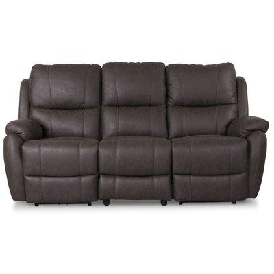 Enjoy Hollywood recliner sofa - 3-seter (el) i mørkebrunt mikrofiber