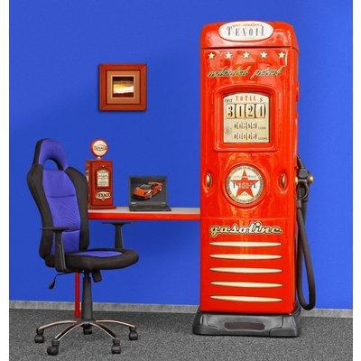 Skrivebord med garderobe innbygd bensinstasjon - Valgfri farge!