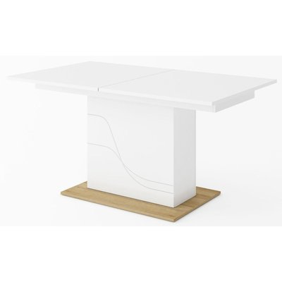 Dayna spisebord 160-200 cm - Hvit/riviera eik