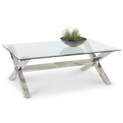 Malta sofabord - Krom/Glass