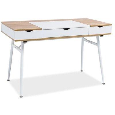 Skrivbord Plugga - Hvit/eik