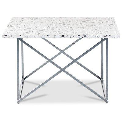 Terrazzo sofabord 75 x 75cm - Cosmos Terrazzo & understell cross krom