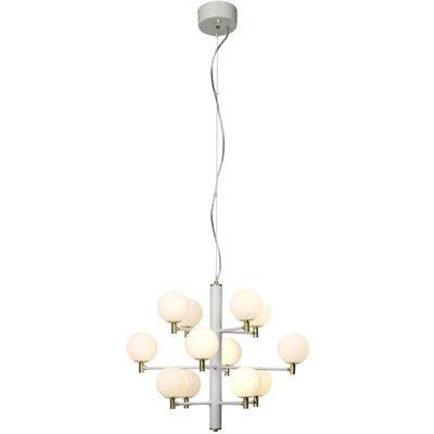 Opus taklampe - Hvit/opal