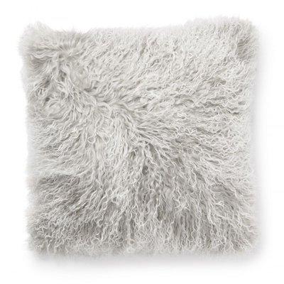 Shansi putetrekk fåreskinn - Lysegrå/hvit