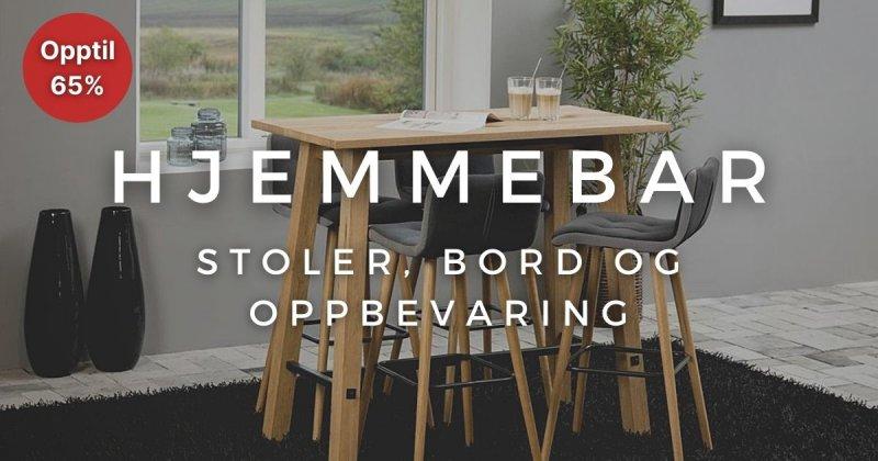 hjemmebar - Stoler, bord og oppbevaring - Opptil 65%