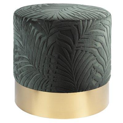 Furry sittepuff - Grønn / Messing