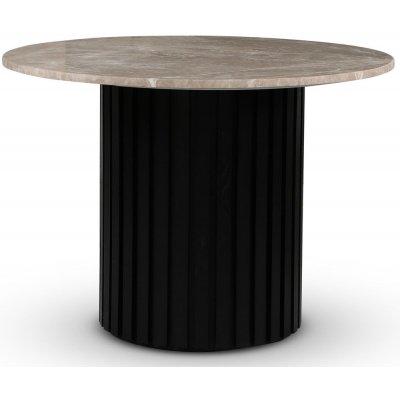 Sumo spisebord Ø105 cm - Svartbeiset / Beige Empradore