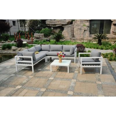 Edenberga sofagruppe - Hvit metall/grå