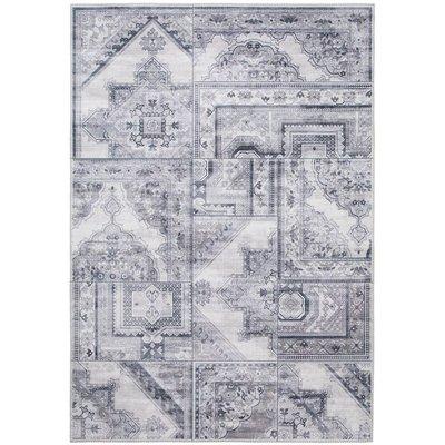 Maskinvevet teppe Cleo Patch - Grå