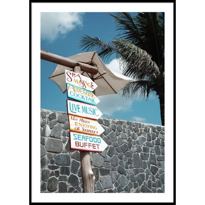 TROPICAL SIGNS - Plakat 50x70 cm