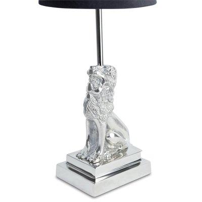 Løve lampefot H32 cm - Sølv