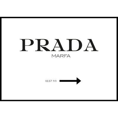 PRADA HORISONTELL WHITE - Plakat 50x70 cm