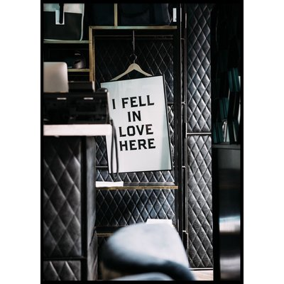 FELL IN LOVE - Plakat 50x70 cm