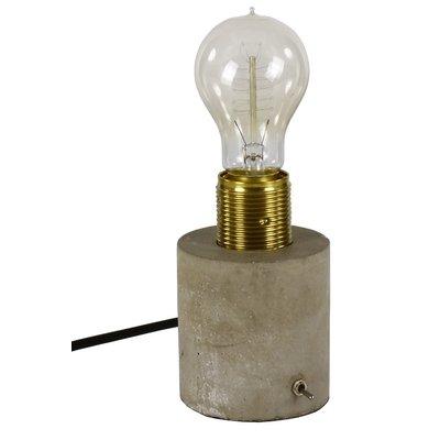 Hunge bordlampe - Messing/Betong