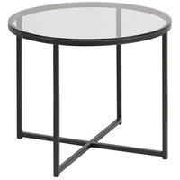 Lessebo rundt lampebord - Glass / Metall
