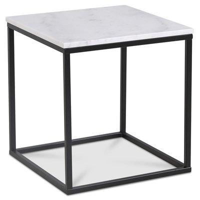 Accent stuebord 50 - Hvit marmor / Svart