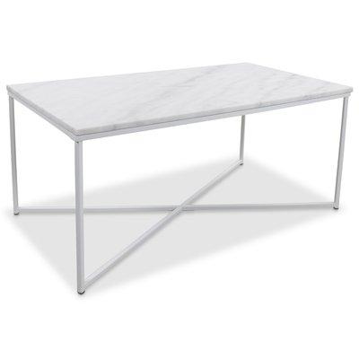 Maryland sofabord 110 - Hvit marmor