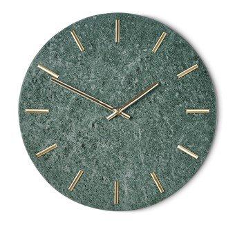 Veggklokke Timeless - Grønn/gull