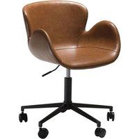 Gaia kontorstol - Vintage lysbrun