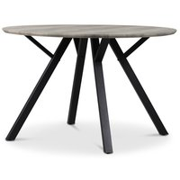 Smokey spisebord 120 cm - Gråbeiset eik