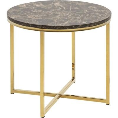 Alisma Hjørnebord - Gull/brun marmor