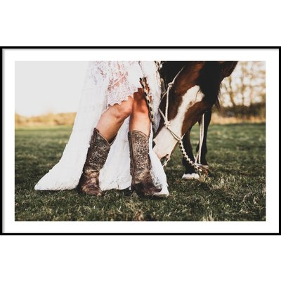 COWBOY BOOTS & HORSE - Plakat 50x70 cm