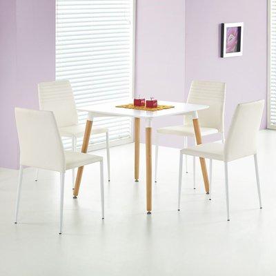 Nesto spisebord 80x80 cm - Hvit
