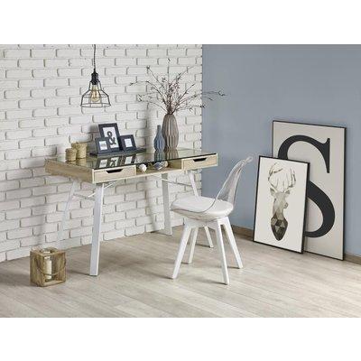 Raegan skrivebord - Hvit/ek
