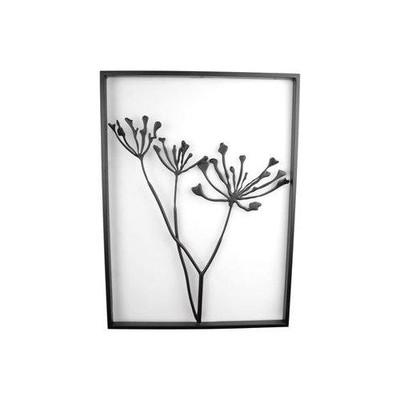 Veggdekorasjon Blomster liten - Svart