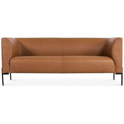 Ontario 3-seter sofa - Sevilla Anilinlær Cognac