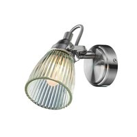Lada Vegglampe - Stål/Klarglass