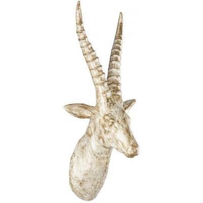 Veggdekorasjon Antilope - Gull/vit