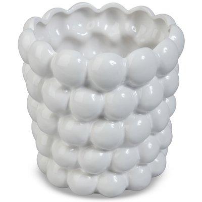 Krukke Big Bouble H18 cm - Hvit