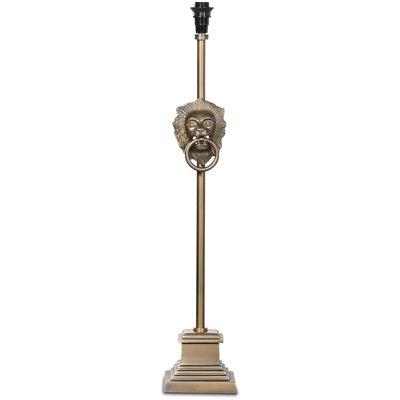 Lejon Lampefot H80 cm - Antikk messing