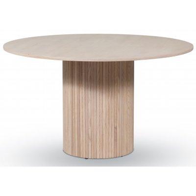 Circle spisebord Ø130 cm - Whitewash eik