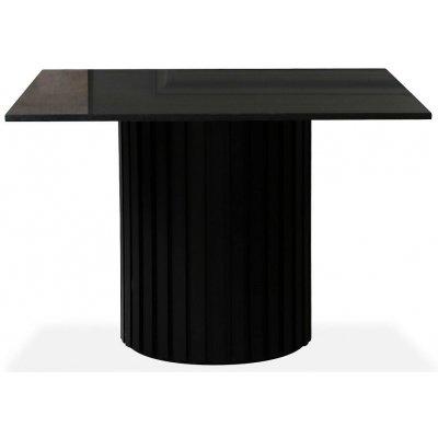 Sumo spisebord 90x90cm - Svartbeiset / Svart granitt