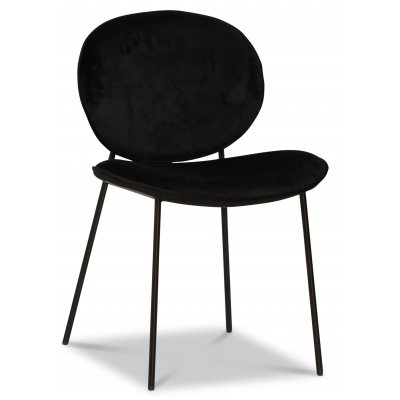 Rondo stol - Svart (Fløyel)/svart