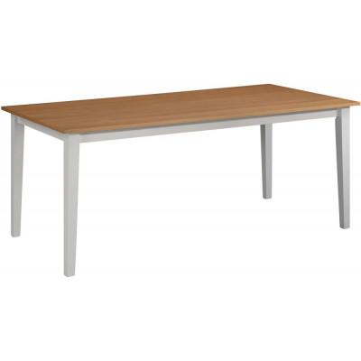 Fårö spisebord 180 cm - Eik/hvit