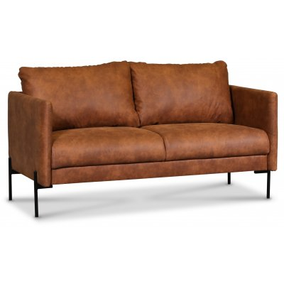 Kingsley 2,5-seter sofa - Cognac (økolær)