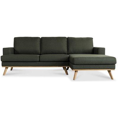 Ventura 2-seters sofa med åpen avsluttning - Mørkegrønn