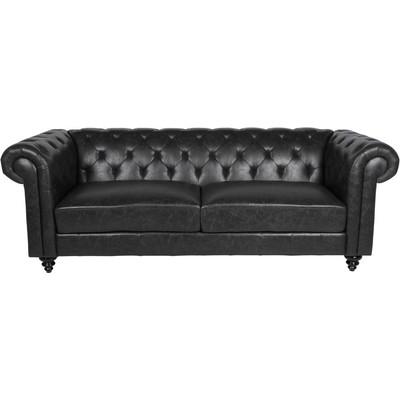 Charlietown 3-seters sofa - Antikk svart