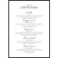 COFFEE GUIDE - Plakat 50x70 cm