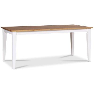 Dalarös spisebord 140 cm - hvit / oljet eik