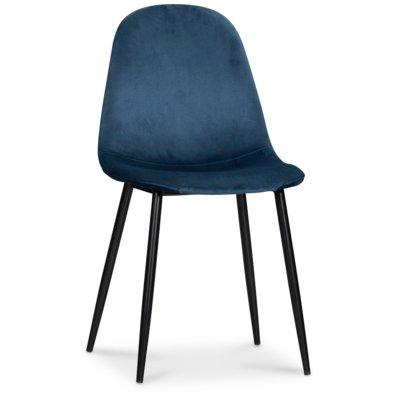 Carisma stol - Blå fløyel